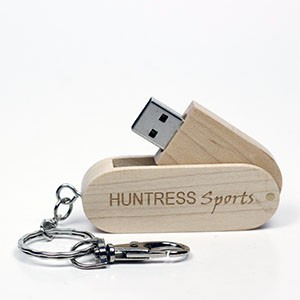 Swivel Wooden USB Drive